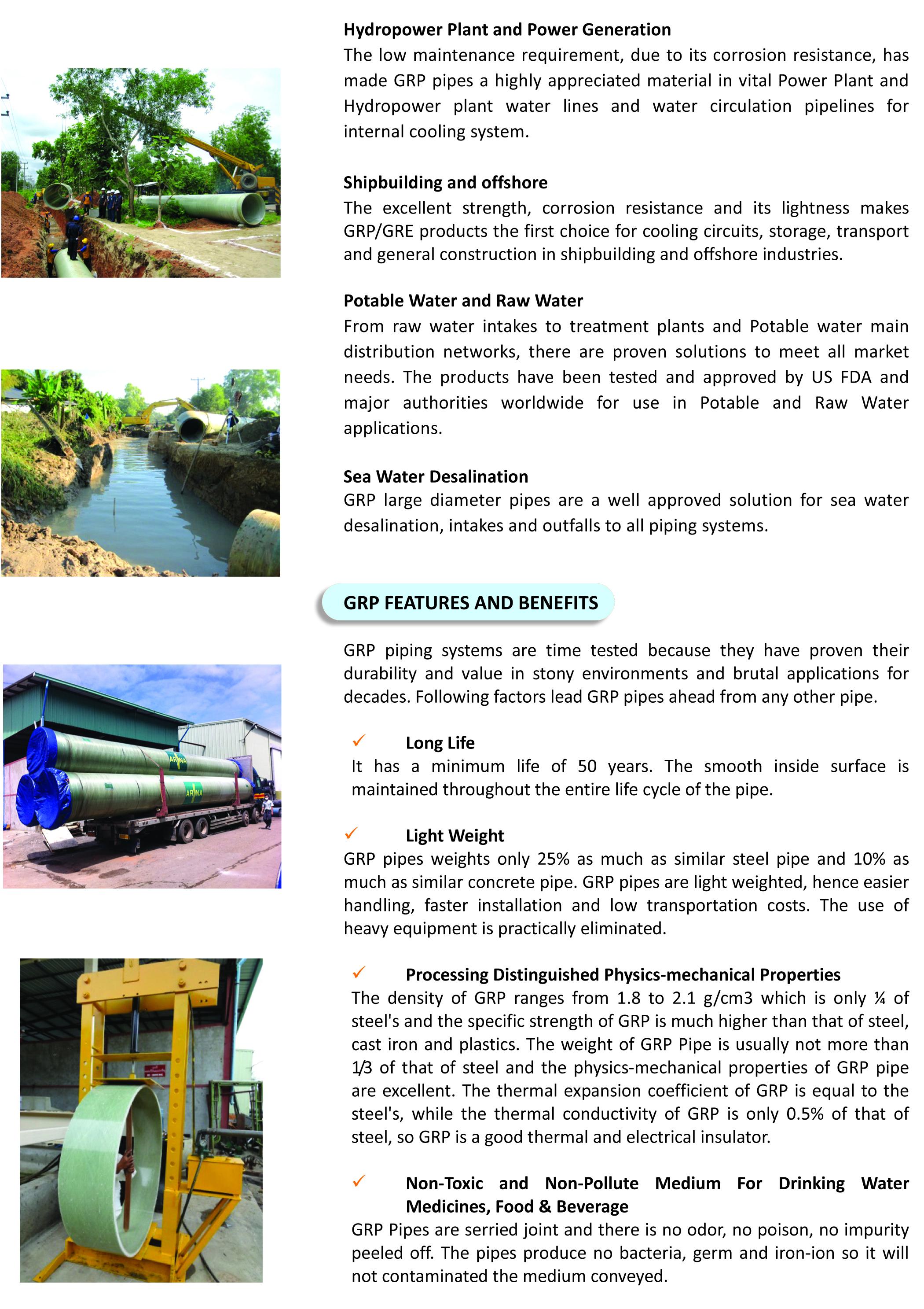 GRP,FRP Pipe Systems – AUNGGABAR